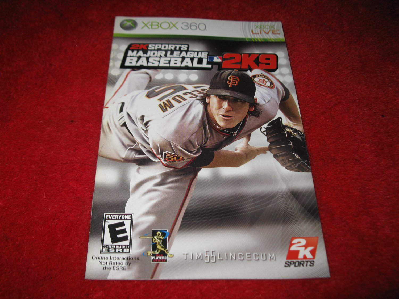 2KSports Major League Baseball 2K9 : Xbox 360 Video Game Instruction Booklet