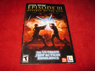 Star Wars Episode Iii Revenge Of The Sith Playstation 2 Ps2 Video Game Instruction Booklet