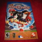 MLB Power Pros : Playstation 2 PS2 Video Game Instruction Booklet