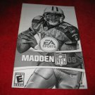 Madden 08 : Playstation 2 PS2 Video Game Instruction Booklet