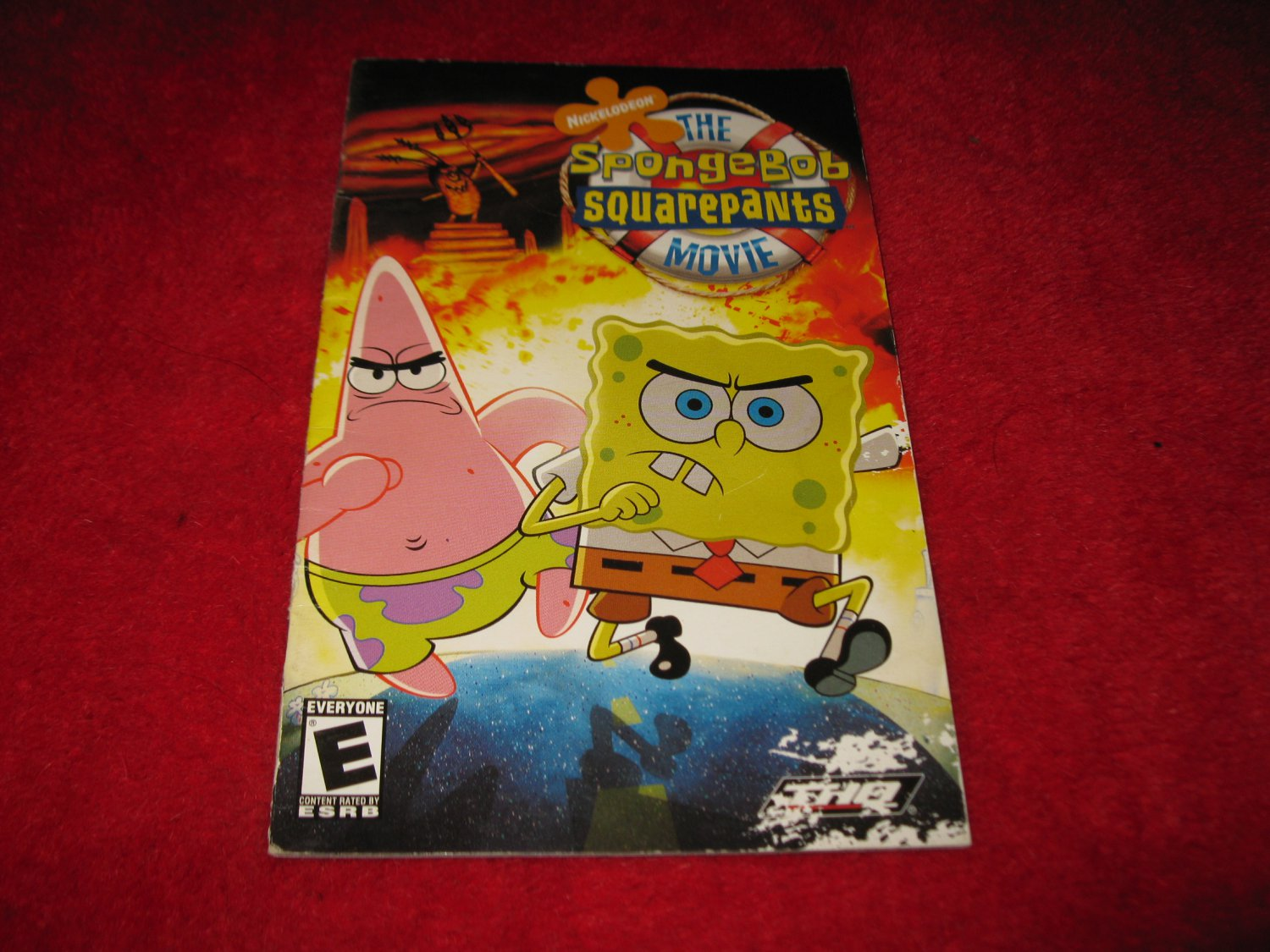 The Spongebob Squarepants Movie : Playstation 2 PS2 Video Game Instruction Booklet