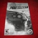 Need for Speed Prostreet : Playstation 2 PS2 Video Game Instruction Booklet