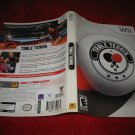 Table Tennis : Nintendo Wii Video Game Case Cover Art insert