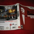 The Godfather Blackhand Edition : Nintendo Wii Video Game Case Cover Art insert