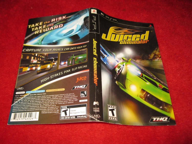 Juiced Eliminator : Playstation Portable PSP Video Game Case Cover Art insert