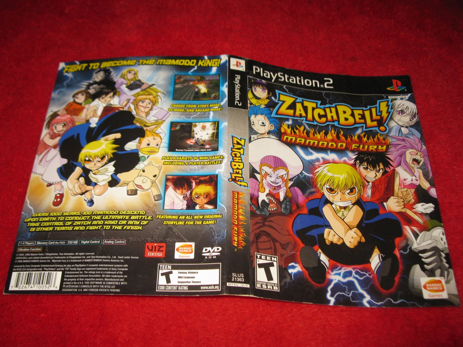 Zatchbell! Mamodo Fury : Playstation 2 PS2 Video Game Case Cover Art insert