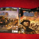Conflict Desrt Storm II Back to Baghdad : Playstation 2 PS2 Video Game Case Cover Art insert
