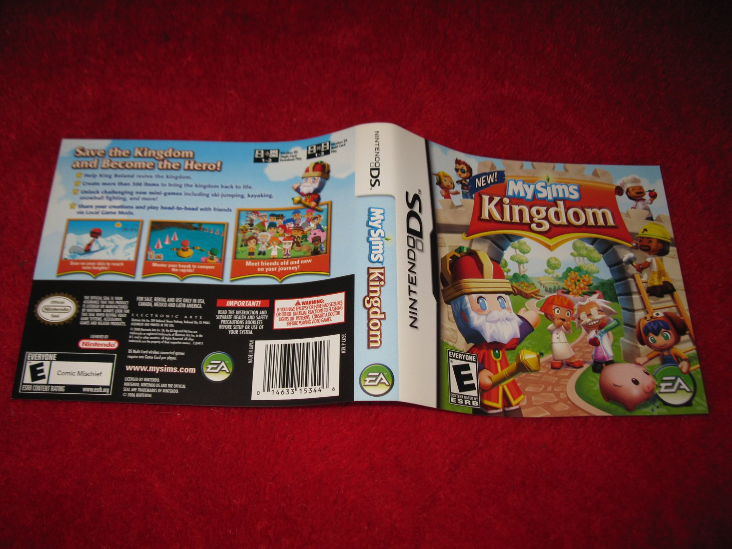 My Sims Kingdom : Nintendo DS Video Game Case Cover Art insert