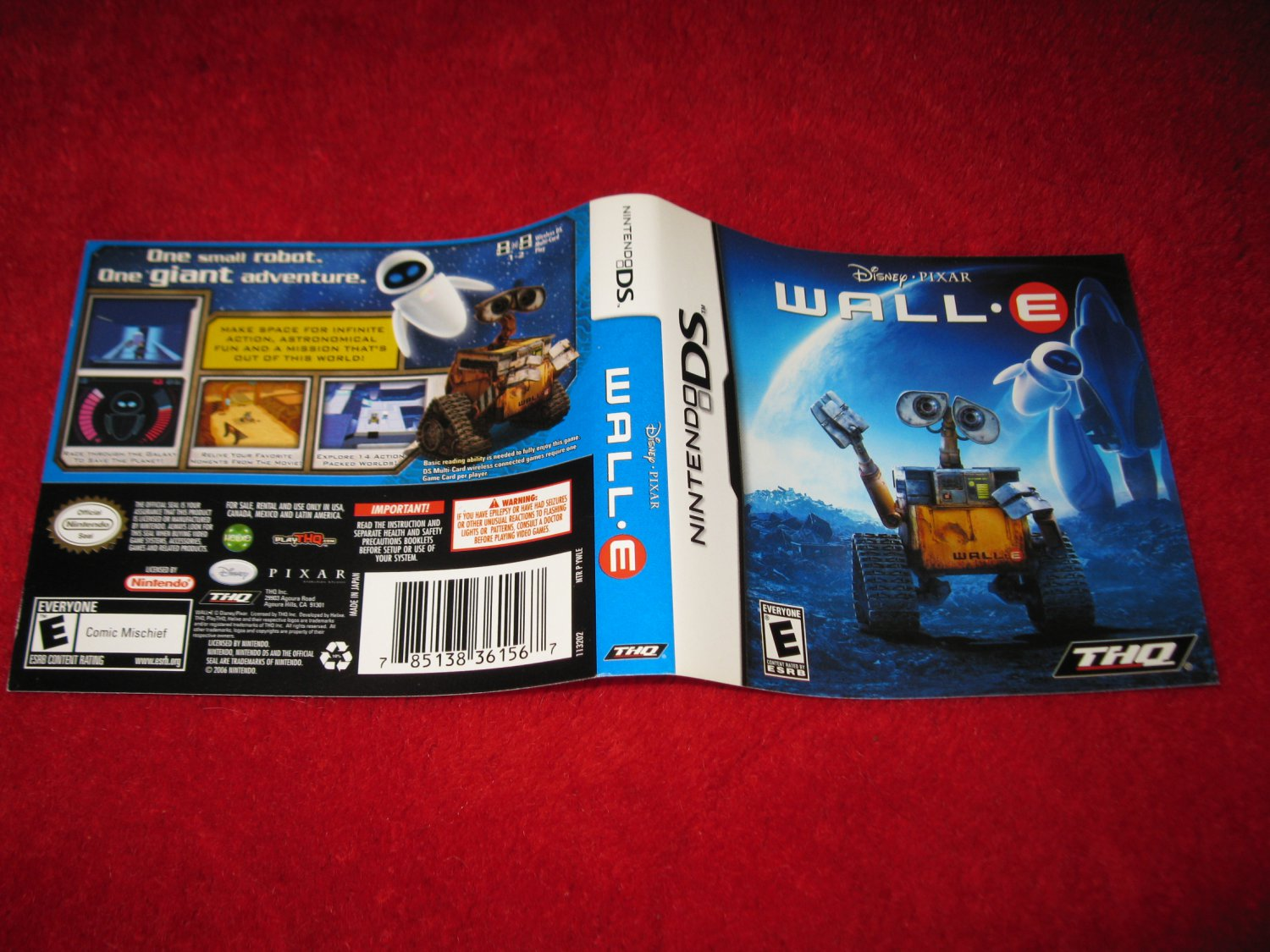 Wall E Nintendo Ds Video Game Case Cover Art Insert