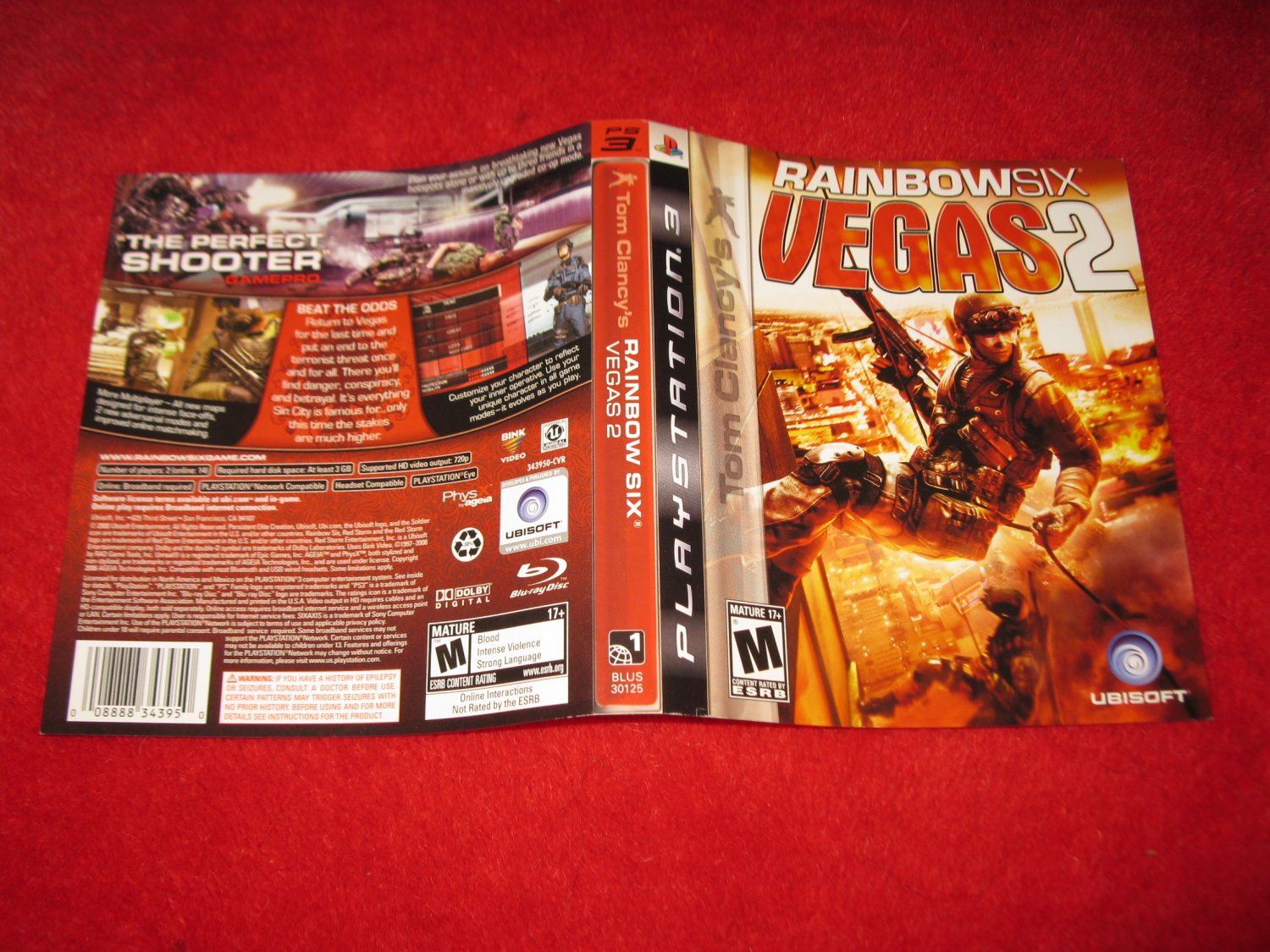 Rainbow Six Vegas 2 : Playstation 3 PS3 Video Game Case Cover Art insert