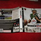 Madden 09 : Playstation 3 PS3 Video Game Case Cover Art insert