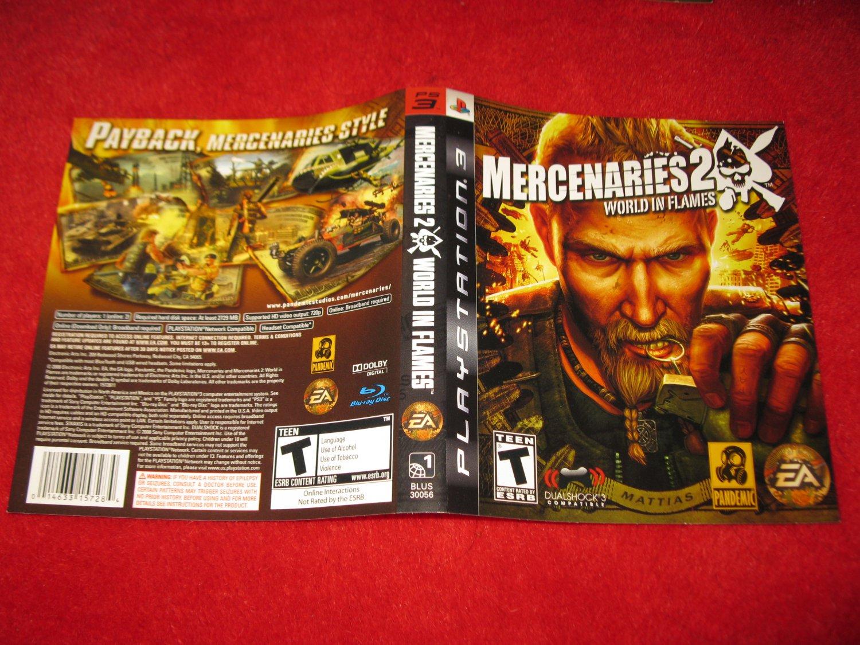 Mercenaries 2 : Playstation 3 PS3 Video Game Case Cover Art insert