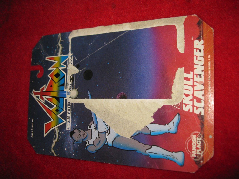 1984 Panosh Place / Voltron Action Figure: Skull Scavenger - Original Cardboard Packaging Cardback