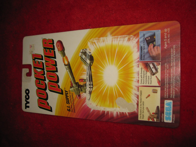 1988 Tyco / Sega pocket Power Action Figure: G.I. Supply - Original Cardboard Packaging Cardback