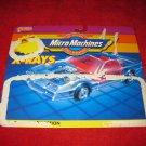 vintage Micro Machines toy Cars: X-Rays - Original Cardboard Packaging Cardback