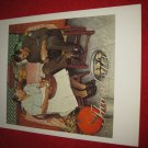 """vintage Norman Rockwell: Thanksgiving - 10"""" x 13"""" Book Plate Print"""