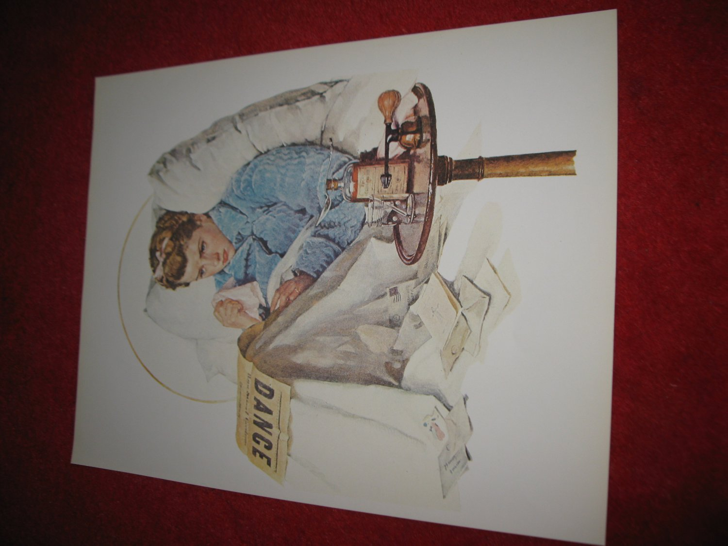 """vintage Norman Rockwell: Sick Day - 10"""" x 13"""" Book Plate Print"""