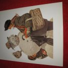 "vintage Norman Rockwell: Portrait in Snow - 10"" x 13"" Book Plate Print"