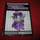 1986 Transformers Action Figure: Skullcruncher Instruction Booklet-  foldout insert