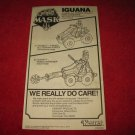 1986 MASK Action Figure: Iguana Instruction Booklet-  foldout insert