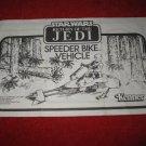 1983 Star Wars Return of the Jedi Action Figure- Speeder Bike : Instruction Booklet-  foldout insert