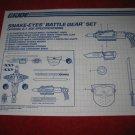 1992 G.I. Joe ARAH Action Figure: Snake-Eyes Battle Gear Set: Instruction Booklet-  foldout insert