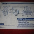 1993 G.I. Joe ARAH (Hall of Fame) Action Figure- Rhino G.P.V.: Instruction Booklet-  foldout insert