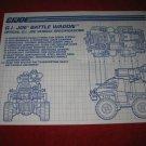 1991 G.I. Joe ARAH Action Figure- Battle Wagon : Instruction Booklet-  foldout insert