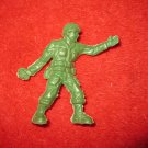 "vintage 3"" military action figure: Checkered Helmet US WW2 Army Man w/ Grenade"