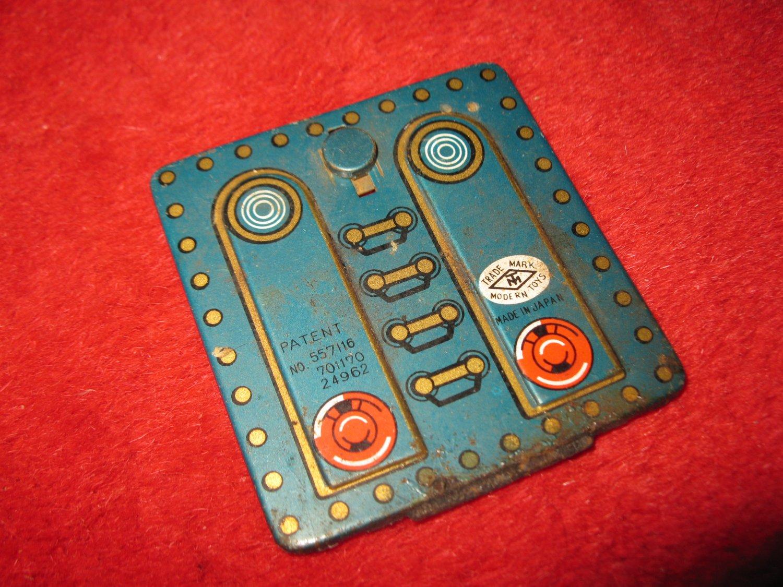 1960's Modern Toys - Toy Train Masudaya Pressed Steel Locomotive part: Rear Battery Bay door