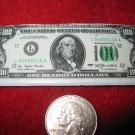 Vintage 1980's Cartoon Refrigerator Magnet: USA $100 Bill