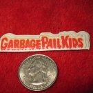 Vintage 1980's Cartoon Refrigerator Magnet: Garbage Pail Kids Logo GPK