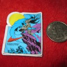 Vintage 1982 Cartoon Refrigerator Magnet: DC Comics Batman on Rooftop Throwing Bat-a-rang