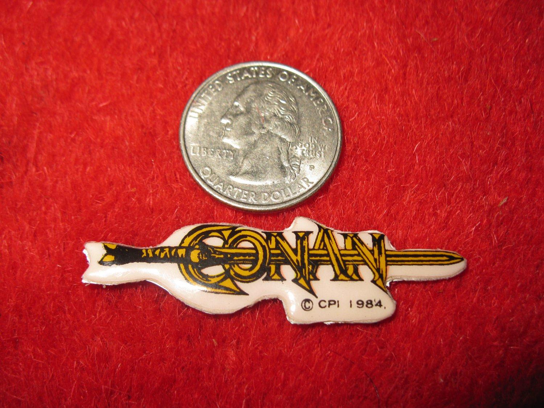 1984 Marvel Comics Conan The Destroyer Refrigerator Magnet: Logo