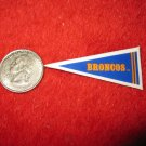 198o's NFL Football Pennant Refrigerator Magnet: Broncos