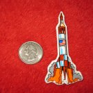 1970's American USA Refrigerator Magnet: NASA Space Rocket