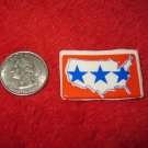 1970's American USA Refrigerator Magnet: United States w/ Stars background