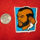 1980's Mr. T Cartoon TV Show Refrigerator Magnet: Profile , blue background