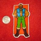 1980's Mr. T Cartoon TV Show Refrigerator Magnet: Posing , orange background