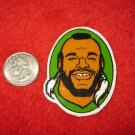 1980's Mr. T Cartoon TV Show Refrigerator Magnet: Head shot, green Background