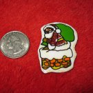 1970's Christmas Themed Refrigerator Magnet: santa on Rooftop
