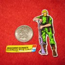 1982 G.I. Joe Cartoon Series Refrigerator Magnet: Machine Gunner Rock 'n Roll w/ Label