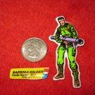1982 G.I. Joe Cartoon Series Refrigerator Magnet: Bazooka Soldier Zap w/ Label