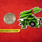 1982 G.I. Joe Cartoon Series Refrigerator Magnet: Mobile Missile System w/ Label