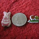 1980's Cartoon Animals Series Refrigerator Magnet: Bunny Rabbit & Flowers