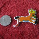 1980's Cartoon Animals Series Refrigerator Magnet: Orange Donkey