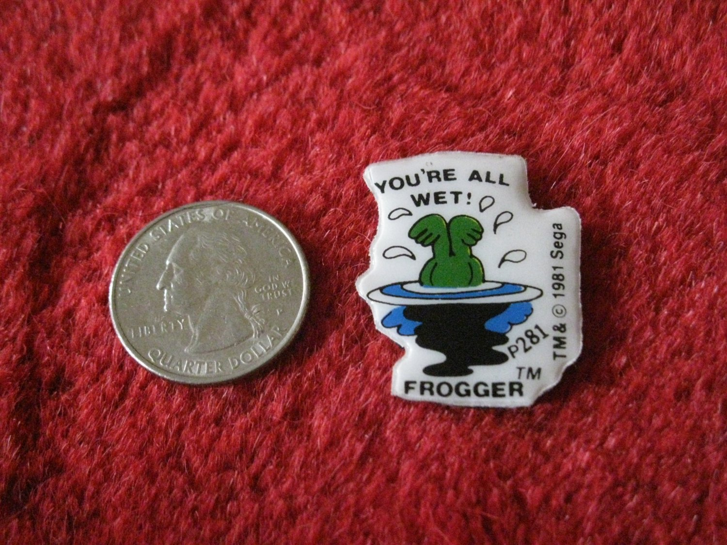 1981 Sega Frogger Series Refrigerator Magnet: #p281 You're All Wet!