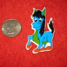 1980's Cartoon Animals Series Refrigerator Magnet: Blue Donkey