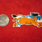 1980's Cartoon Animals Series Refrigerator Magnet: Orange Donkey Running