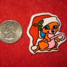 1970's Christmas Themed Refrigerator Magnet: Mouse